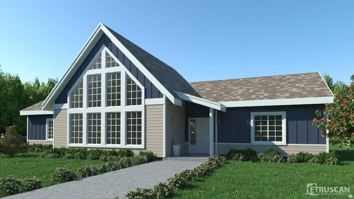 3 Bedroom House 1 982 Square Feet Etruscan House Plans